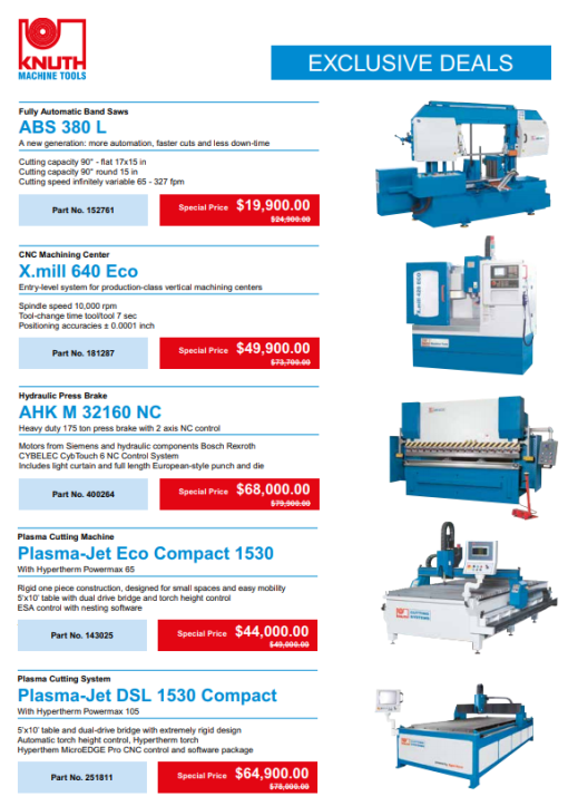 Knuth Sales specials